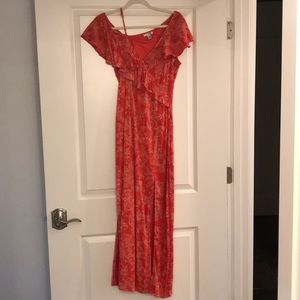 AmuseSociety coral dress